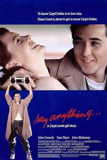 N2676 Cameron Crow Say Anything Classic Movie John Cusack Ione Skye Wall Sticker Silk Fabric Poster Art Indoor Decor Bright