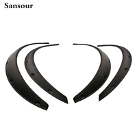 Carbon Fiber Style Fender Flare Wheel Lip Body Kit Universal For Car Truck Car Mudguard
