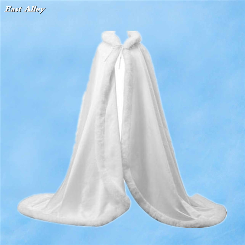 White Formal Long Bridal Cape Wedding Cloak Full Length Medieval Cape Cover Up