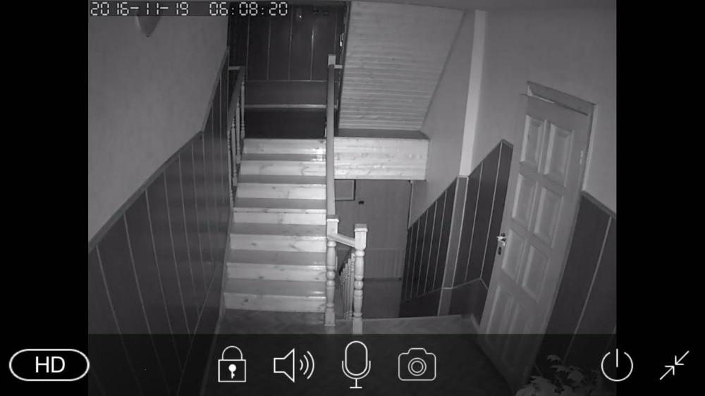 Exemple de vue de nuit avec une caméra IR