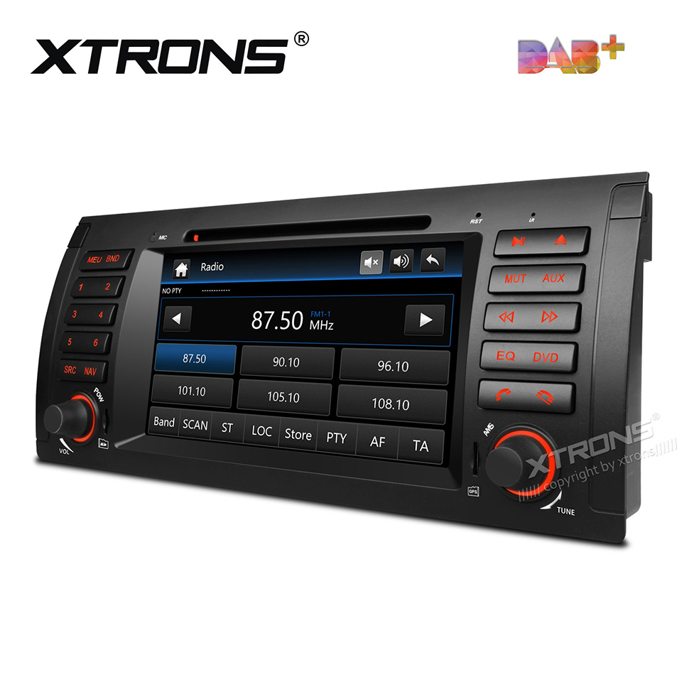 7 DAB+ 1Din Radio Car DVD Player GPS For BMW X5 E53(1999-2006) Auto Nav 1 Din Bluetooth CANBus SD RDS Radios DAB FM AM Stereo image