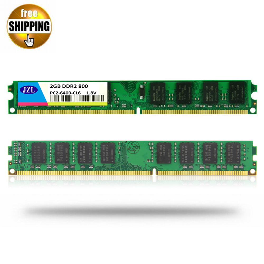 Top 99 Cheap Products Memoria Ram Ddr2 800mhz 2gb In Bulbs Jzl Pc2 6400 Ddr 2 800 Mhz Lc6 240pin Desktop Pc Computer Dimm Memory Only For Amd Cpu