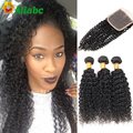 8 Brazilian Curly Hair With Closure Yvonne Brazilian Kinky Curly Hair With Closure 3 Pcs 300g Curly Human Hair With Closure