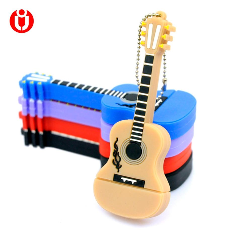Karstā pārdošana, mūzikas instrumentu ģitāra USB Flash Drive / USB atmiņas karte 2GB 4GB 8GB 16GB 32GB, zibatmiņas atmiņas karte