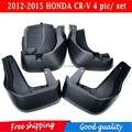 De alta Qualidade! Fit 2012-2015 HONDA CR-V Preto Front & Rear Mud Flaps Splash Guarda Guarda-lamas 4 pic um conjunto