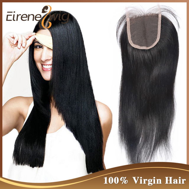 100 Human Remy Hair Extension Bleached Knots 4x4 Top Closure 6a