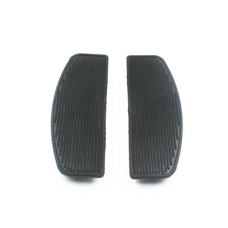 Motorcycle Black Front Rubber Footboards Foot Pegs Footrests Pad Rider Insert For Harley Touring Electra Glide