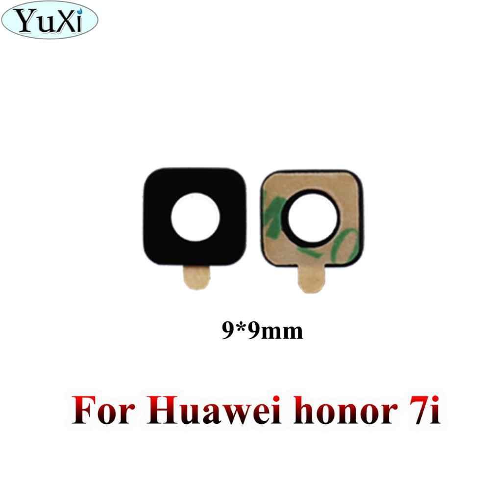 玉渓 Huawei 社の名誉 7C 7i 7A 6x 6A 5C 5x 4A 4x 3C 6 V8 V9 8 × 10 6 プラス再生リアバックカメラガラスレンズ接着剤ステッカー