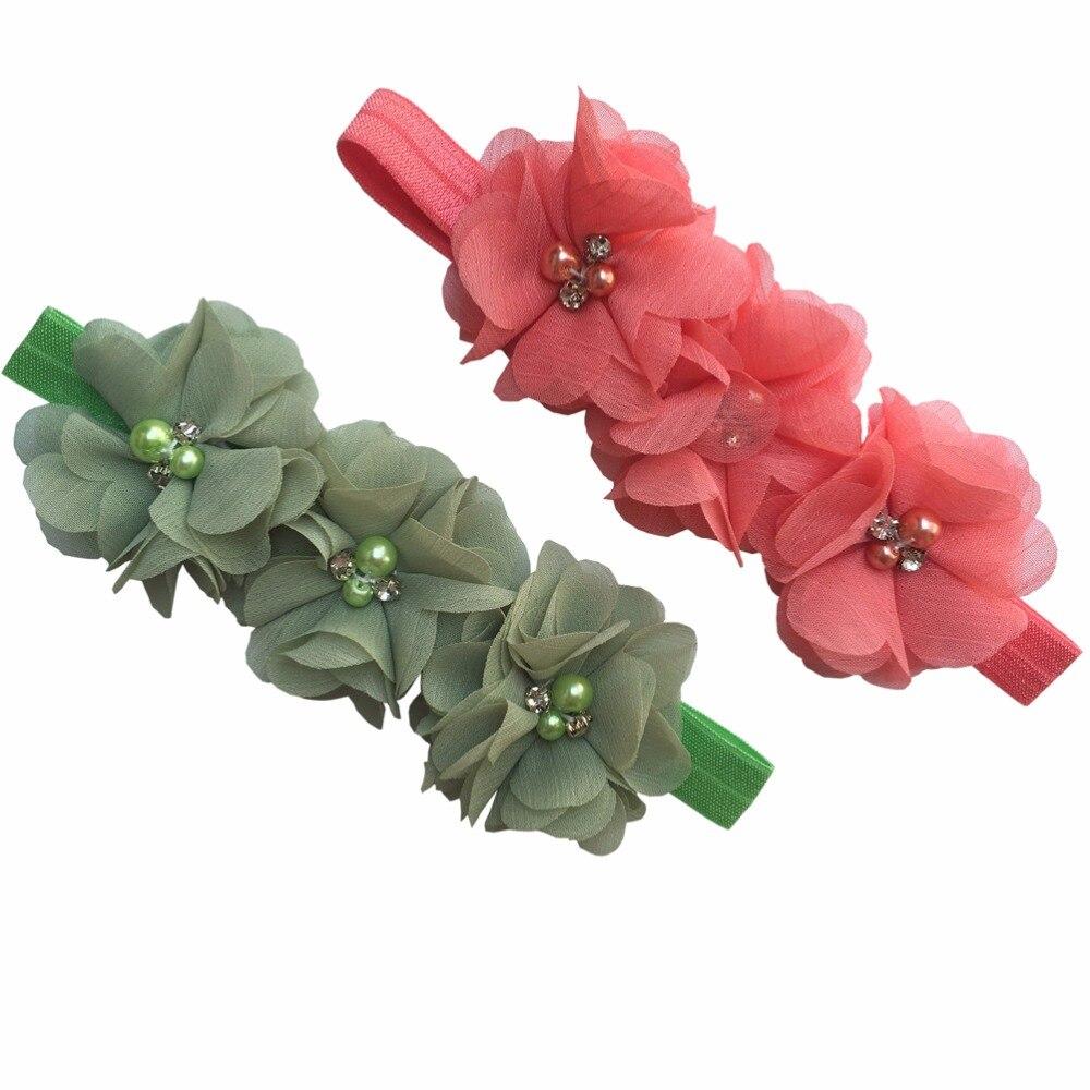 Online get cheap hair flower beads aliexpress alibaba group 2 pcslot kids headbands chiffon beaded flower hairband chiffon beaded flower hair bands dhlflorist Choice Image