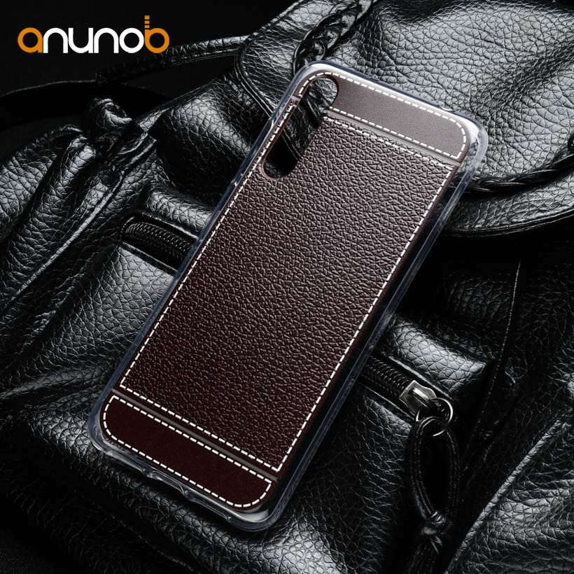 Silicone Mobile Phone Cases For Huawei P20 Pro P20 Plus Case 6.10 inch Litchi Soft TPU Covers