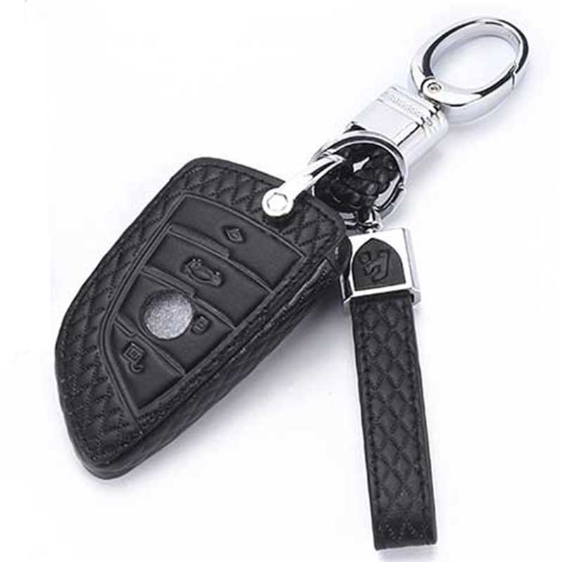 Top Layer Leather For BMW Key Case For BMW <font><b>G30</b></font> <font><b>520I</b></font> F46 440I X5 F15 X6 F16 X1 X3 X4 1 2 5 7 Series Key Cover For BMW Wallet image