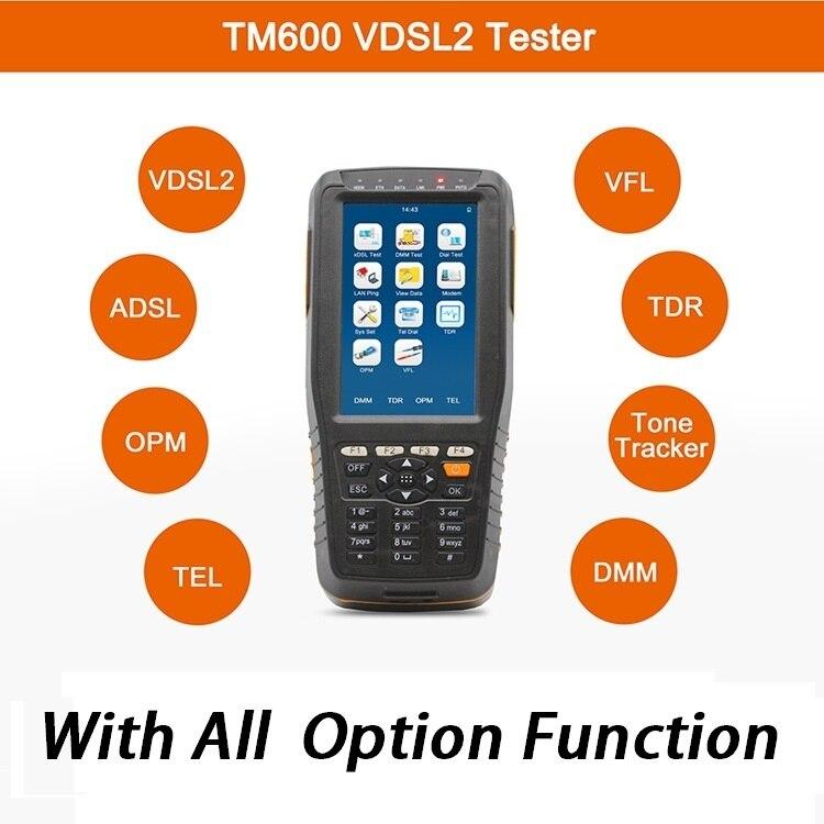 TM 600 VDSL VDSL2 Tester ADSL WAN LAN Tester xDSL Line Test Equipment with all functions