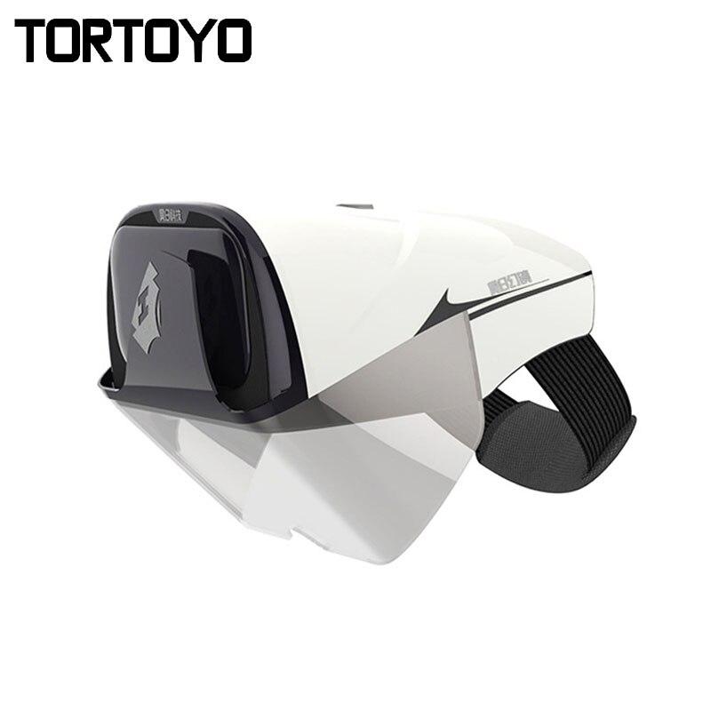 TORTOYO Smart réalité augmentée AR lunettes réalité virtuelle 2 K FHD privé cinéma Gaming 3D Film casque pour téléphone 4.0-5.7 pouces
