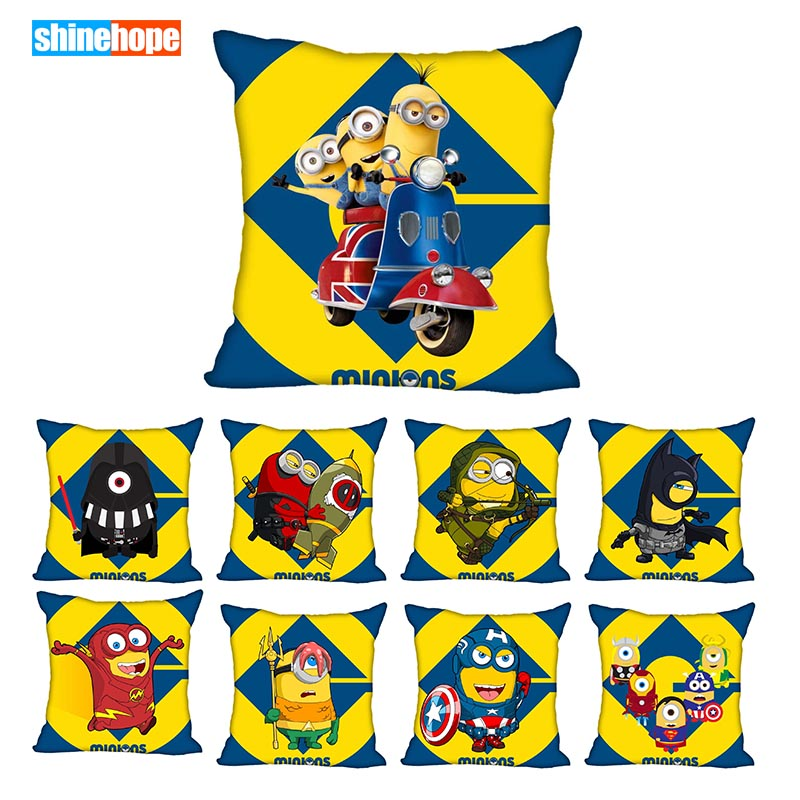 Best Minions Pillowcase Wedding Decorative Pillow Cover Custom Gift For (one Sides) Printed Pillow Cases