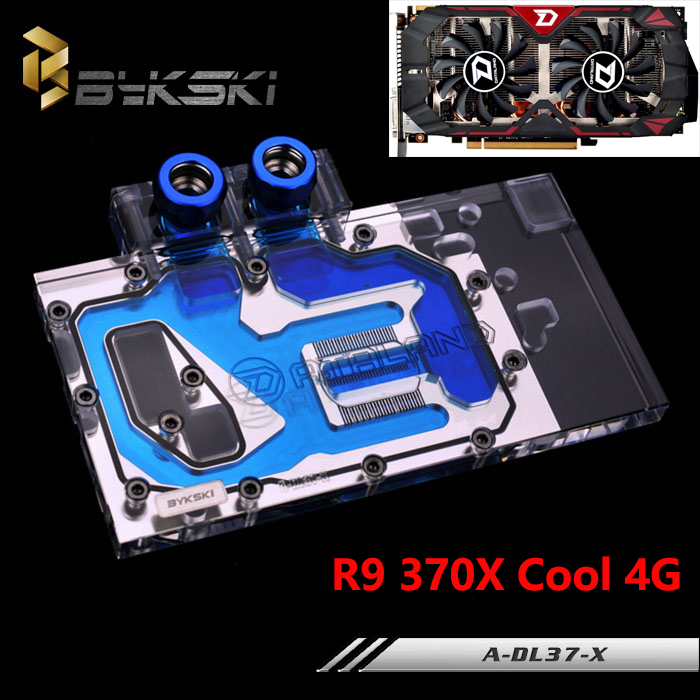BYKSKI A-DL37-X Full Cover Graphics Card Block use for DATALAND R9-370X COOL 4G Video Card Block RGB Controller vg 86m06 006 gpu for acer aspire 6530g notebook pc graphics card ati hd3650 video card