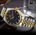 Unisex das mulheres dos homens relógio de luxo famosa marca de Papel de prata de ouro relógio do aço homens whatch yacht master relógio de pulseira à prova d' água relógio