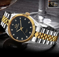 Unisex hombres mujeres del reloj de lujo famosa marca de Papel de oro plata acero reloj whatch hombres yacht master reloj de pulsera a prueba de agua reloj