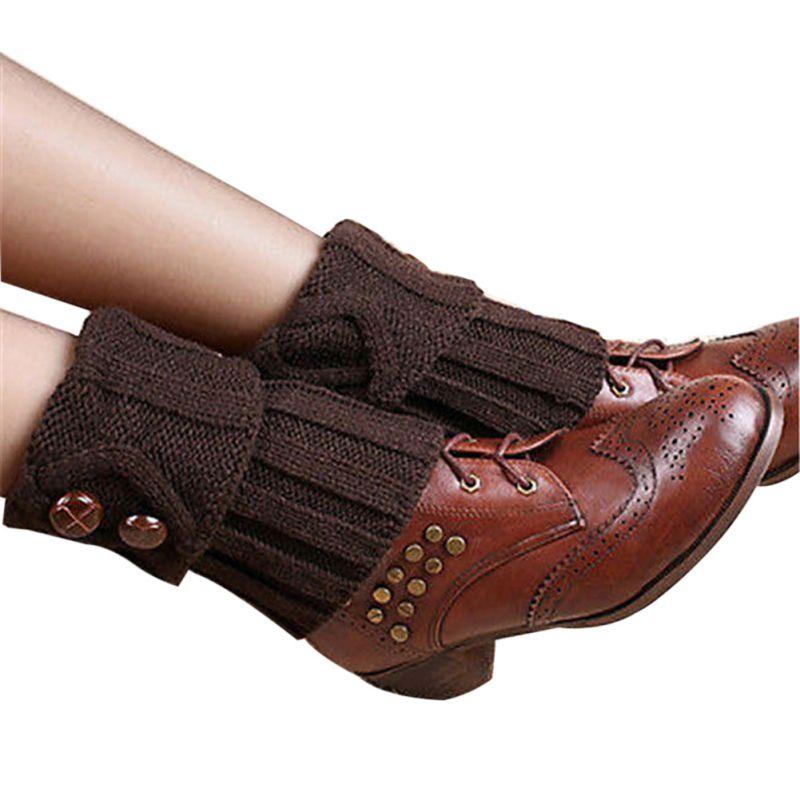 6383ec46b6632 ... Jambières Tricoté Au Crochet Long Chaussettes Bottes Manchettes  Chaussettes. Click here to Buy Now!! Mode Femmes D