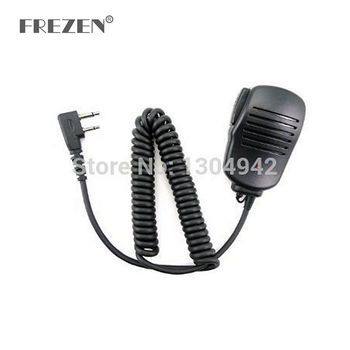 New Handheld Mic Microphone Speaker for 2 Pin ICom Yaesu Vertex two way Radio IC-F10/F11/F12/F20/21 IC-F22 IC-F3 IC-F33GS - discount item  15% OFF Walkie Talkie