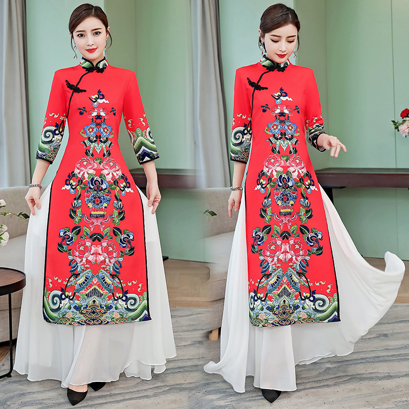 2019 New Arrival Spring And Summer Traditional Ao Dai  Pacific Islands Clothing S-5XL