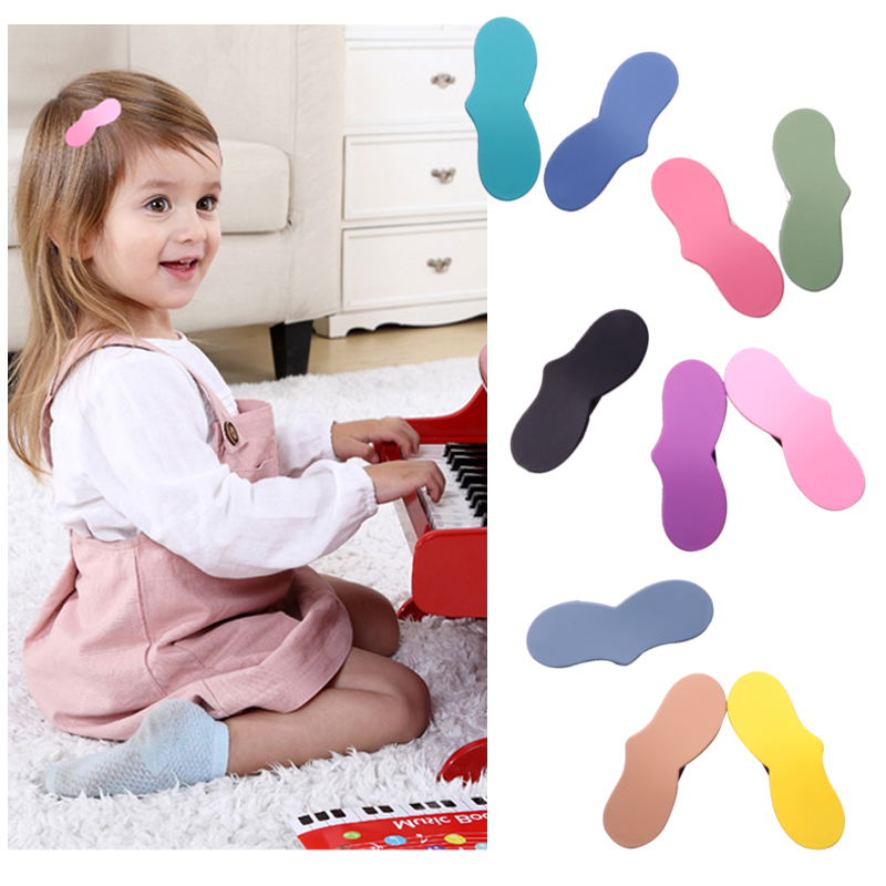 2pcs Snap Matte Hair Clip Girls Heart Hairpin Cute Barrette for Women Children Hair Accessories Styling Tools Baby Kids Hairgrip in Hair Accessories from Mother Kids
