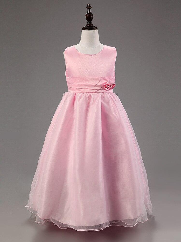 3 15 Years Flower Girls Ball Gown Empire Waist Sleeveless Princess ...