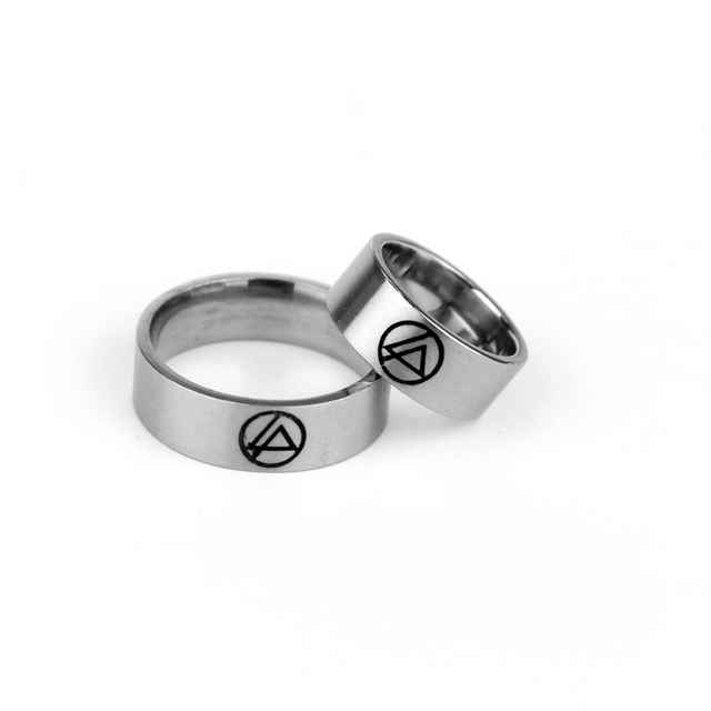 Symbol Rock Band Stainless Steel Ring Linkin Park Ring For Men Women