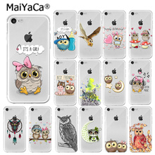 MaiYaCa Cute cartoon owl couple love TPU Soft Silicone Phone Case Cover for iPhone 7 7plus 5 5Sx 6 8 8Plus X XS MAX XR