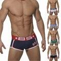 2016 brand logo   Cotton Boxers 5 colors Men Pants Soft And Breathable Gay Men Underwear underpants Cueca