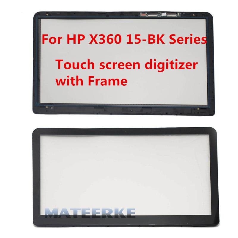 15.6'' For HP 15-bk series 15-bk002nia bk021nr 15-bk117cl 15-bk074nr 15-bk056sa 15-bk076 Touch screen digitizer Glass with Frame кий для пула cuetec 1 рс черный 21 076 57 5