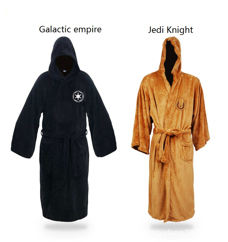 Carnival Clothing Star Wars Darth Vader Coral Fleece Terry Jedi Adult Bathrobe Robes Halloween Cosplay Costume for Men Sleepwear