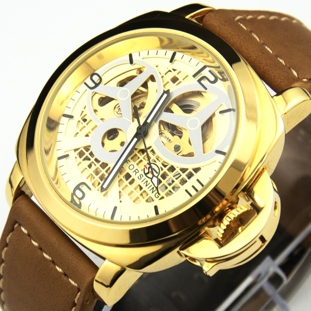 Steampunk Watches Men Luxury Brand Automatic Forsining Watches Male Business Skeleton Wristwatch Mechanical Watch