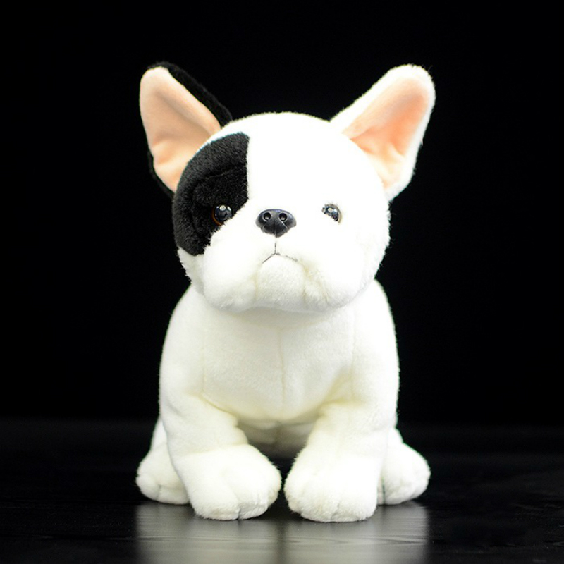 1 pcs 20cm Cute Dog Dolls Simulation French Bulldog Dolls Kneeling Dog Plush Toys happy child girl toys electric toy plush pet dog cute and funny simulation dog