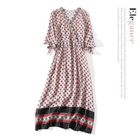 100% silk women summer dress