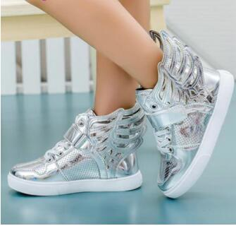 2018 NEW  Girls Luminous LED Light Shoes Angel Wings Baby Boys Casual Led Shoes Kids Children Sneakers size 21-362018 NEW  Girls Luminous LED Light Shoes Angel Wings Baby Boys Casual Led Shoes Kids Children Sneakers size 21-36