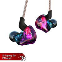 KZ ZST Colorful Balanced Armature With Dynamic In ear Earphone BA Driver Noise Cancelling Headset With Mic Replacement Cable ZSN