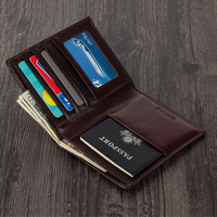 Magic Tale Leather Passport cover for men and women travel document holder custom name service passport bag Gift Free Shipping