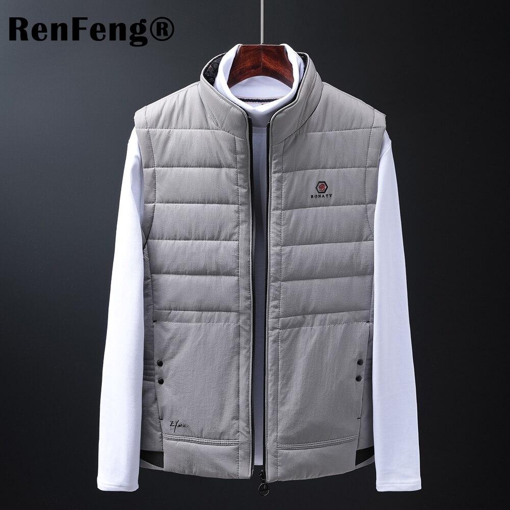 Mens Jacket Sleeveless white duck down Vest Winter Fashion Casual Slim Coats Brand Clothing Cotton-Padded Men Vest Men Waistcoat (7)
