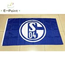 Germany Bundesliga FC Gelsenkirchen Schalke 04 3ft*5ft (90*150cm) Size Christmas Decorations for Home Flag Banner Gifts