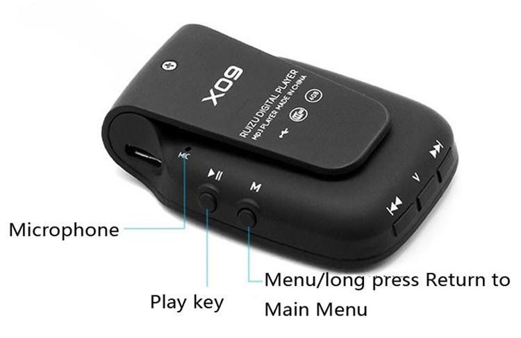 RUIZU X09 MINI MP3 Player Running Sports Clip Mp3 Walkman Support TF Card Music Player With 1.5 inch Screen E-Book Recording FM (12)