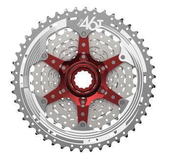 SunRace CSMX3 10 speed 11-46T freewheel sprocket mountain mtb bike bicycle cassette parts 11-46T flywheel silver black