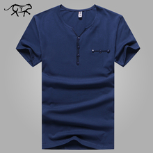 Brand Clothing tshirt Men Fashion Slim Fitness Men's T-shirt V-Neck Cotton Tees Casual Short Sleeve Male Undershirts Camiseta