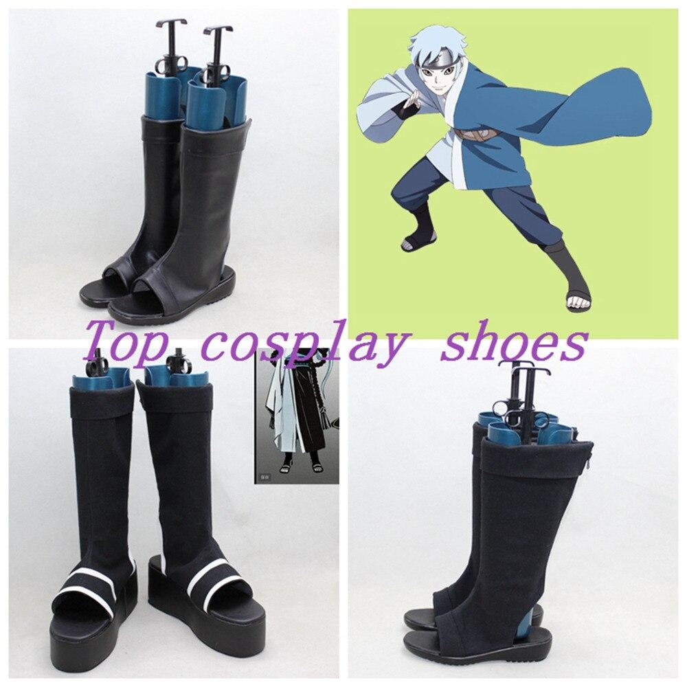 Boruto Naruto Mitsuki Kimono Cosplay Costume Boots Boot Shoes Shoe