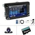 Bosion Двухместный 2 DIN DVD-плеер автомобиля Авто GPS BT касания Радио MP3 стерео для Volkswagen VW Skoda ПОЛО PASSAT B6 Caddy CC TIGUAN GOLF сиденья