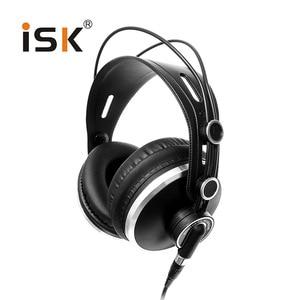 Image 5 - צג אוזניות מותג מקורי ISK HP 980 מקצועי סטודיו DJ אוזניות 3D סראונד סטריאו אוזניות Hifi אוזניות