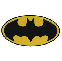 2018 New Arrival Real Parches Embroidery Stickers Batman For Character Movie Classic Bat Logo Iron On Applique Morale Patch