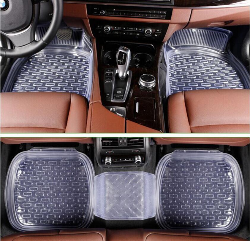 car general waterproof plastic foot foot transparent plastic rubber latex mats environme PVC automobile environmental protection