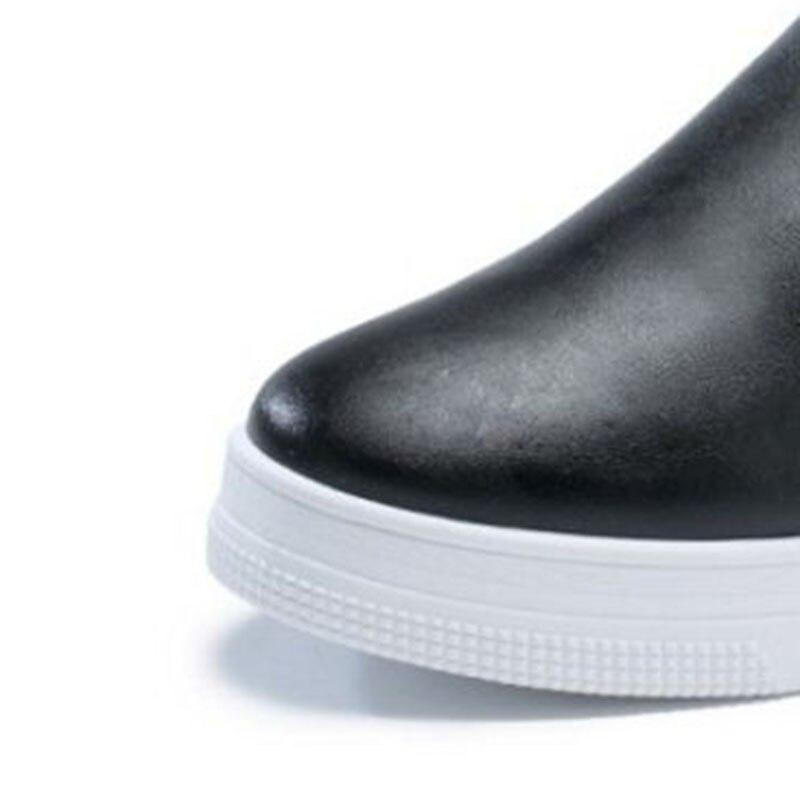 Tamaño Cuñas Cremallera 40 blanco Moda Mujer Mujeres Punta De Zapatos Daliy Redonda Aicciaizzi Verano Calzados Bordado Negro Vacaciones 36 61nXa