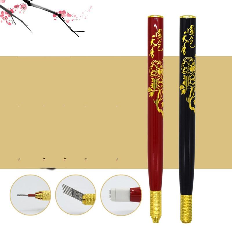 전문 Tebori 눈썹 문신 펜 영구 메이크업 펜 기계 Microblade 펜 립 및 눈 썹 문신 장비에 대 한