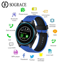 Smart Watch Android With Camera Bluetooth Smartwatch SIM TF Card Wristwatch Fitness Tracker Watch Waterproof Smart Electronics
